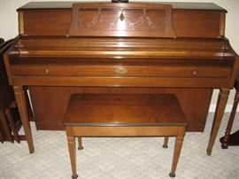 Wurlitzer Piano and Stool...