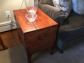 side table from old chest