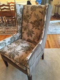 Country Willow contrast wing chair