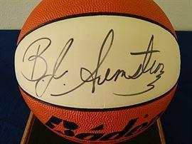 B. J. Armstrong Autographed Basketball
