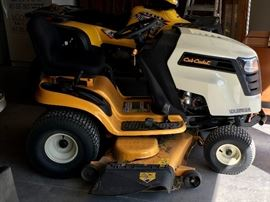 "VERY NICE FULLY FUNCTIONAL CUB CADET 50"" LTX 1050 LAWN TRACTOR. RIGHT AT 100 HOURS."
