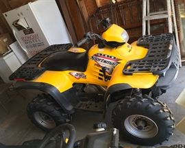 NICE 2003 POLARIS SPORTSMAN ATV 4 WHEELER. WE SENT THIS OUT TO HAVE A NEW BATTERY PUT IN ALONG WITH FRESH FUEL. IT WILL BE BACK ON SITE ON WEDNESDAY DURING THE SALE.
