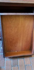 Mahogany Drop Front Cabinet w/Southern Bonnet top {Purchased from the Charity Hospital on Tulane in New Orleans}     Drawers Dovetailed Front and back and made for Mahogany front and Cypress interior
