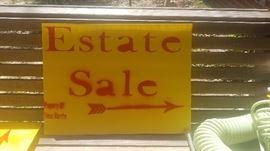 Our Estate Sale Sign