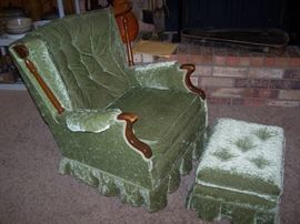green velvet, matches couch