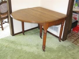 Antique Wood Drop Leaf Table