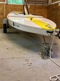 2014 Performance Laser Sunfish *includes Laser Trailer (road trailer as well as storage trailer, Racing Sail, Boat Deck Cover,  Hot Dog Bag (for Sail and Mast) , Rollabout Sunfish Dolly and all paperwork. garage kept!!