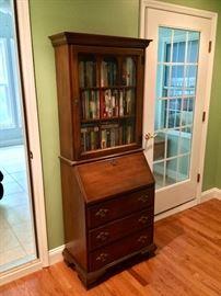 Solid wood secretary desk
