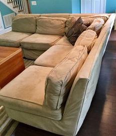 Comfortable L shaped sofa