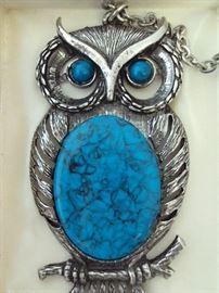 Vintage NOS Owl Necklace