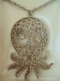 Vintage Octopus Necklace NOS in Box