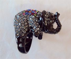 Princess Amanda Collection Rhinestone Elephant Ring in Box
