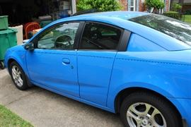 "2005 SATURN ""ION QUAD COUPE"" w/ 106,952 Miles. Automatic Transmission, Power Steering, Cold A/C.  Good Tires Mounted on Factory Alloy Wheels. Includes Sunroof. Nice Clean ""One Owner"" Car."