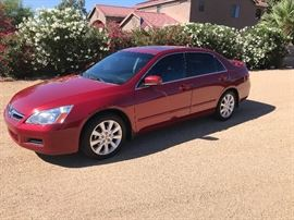 2007 Honda Accord, has everything except Navigation. Moon Roof, spoiler, Excellent condition. 102,300 miles. Has 100,000 plus still to go. Sells to highest bidder regardless of price at 10am