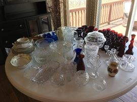 Misc. collectible of crystal and glass ware.  Some very old, some not so old.  All beautiful!