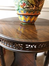 Detail of small table