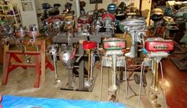 LARGE VINTAGE OUTBOARD MOTOR COLLECTION