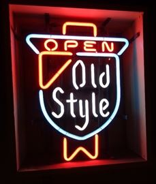 VINTAGE OLD STYLE BEER NEON SIGN