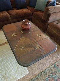 Custom made coffee and matching lamp table