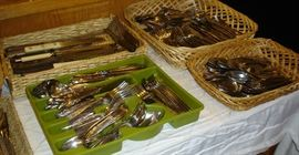 More flatware, including one huge set