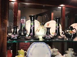Shelley Fine China art deco vases