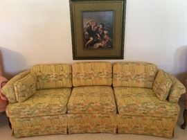 Yellow floral couch