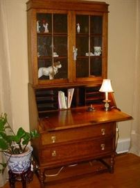 same cabinet with open door for desk