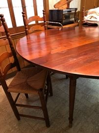 Wonderful Handmade Drop Leaf Table & Chairs by THE MAJOR SHOP (Hickory, NC)
