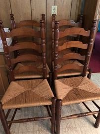 Eight Chairs Made By The Major Shop (Hickory, NC)