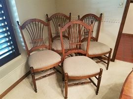 Ethan Allen Wheat back chairs