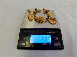 27.2 dwt 14K gold bracelet