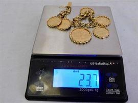 23.7 dwt gold bracelet
