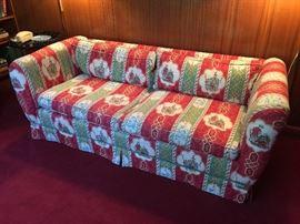"31. Custom Upholstered Sofa (76""x 34""x 28"")"