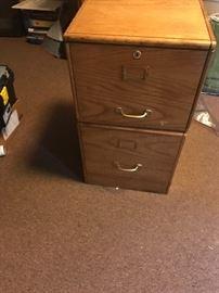 Oak filling cabinet