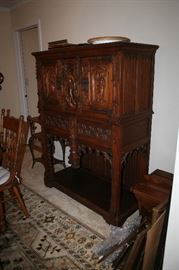Antique Flemish linen press.