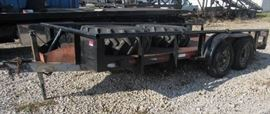 Tandem Axle Trailer - 16' w/ Metal Deck & Side Rai ...