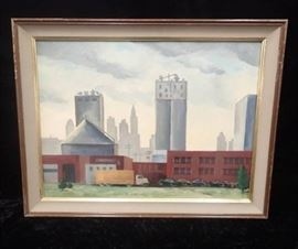 Dorthy Stockwell Painting of Kansas City from the ...
