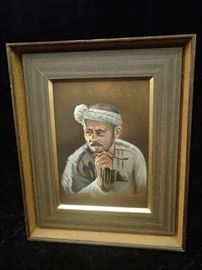 Oil Painting of Japanese Man signed by Fukaya