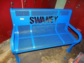 Swaney metal bench