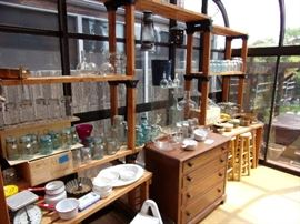 Shelving not for sale, but a great collection of jars and fun items