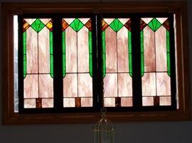 Four panels art glass