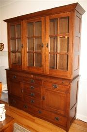Beautiful china hutch with cedar lined drawers