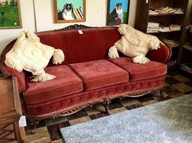Victorian Velvet Classic Couch