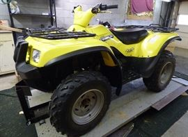 2004 Suzuki Twin Peaks 4x4 700 Automatic Quadrunner (looks like NEW !)  Has only 114 hrs., 652 miles.  Accepting Bids starting at $3000 through Saturday, May 26 @ 1 PM.