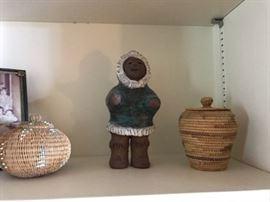 Indian art, baskets, Eskimo