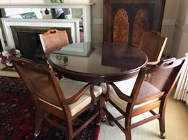 Game table and four chairs