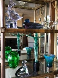 various pieces of glass collection