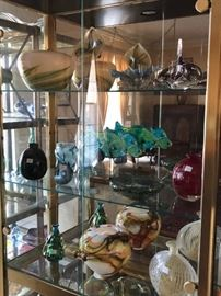 various pieces from glass collection