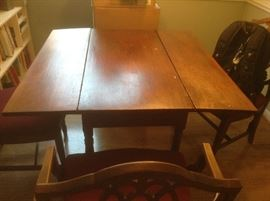 Antique Kitchen Folding Table