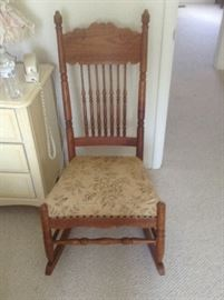 Antique Armless Rocking Chair